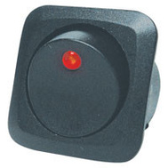 Calterm 40600 Round Rocker Red Led 25 Amp
