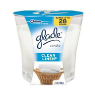 SC Johnson 76958 Glade Candle Clean Linen 3.4 Ounce