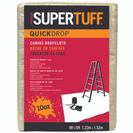 Trimaco 51125 Supertuff Drop Cloths Canvas 4 Foot By 5 Foot