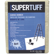 Trimaco 58907 Supertuff Drop Cloths Deluxe Canvas 4 Foot By 12 Foot Tufpro