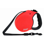 Pet Adventures DGO RLSH RD MD 16 Foot RED MED Retrac Leash