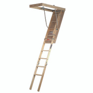Louisville Ladder L224P Premium Series 10 Ft By 22 Inch Wood Attic Stairway