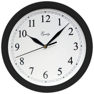 La Crosse 25203 10 Inch Black Wall Clock