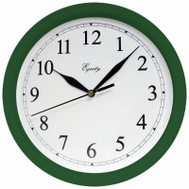 La Crosse 25205 Hunter Green Plastic Wall Clock 10 Inch