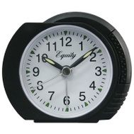 La Crosse 27001 Black Quartz Alarm Clock Elgin