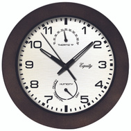 La Crosse 29005 Clock Wall With Thermostat 10 Inch Brown