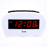 Geneva Advance 30227 / 4755 LED Silver Electric Alarm Clock With Battery Back-Up