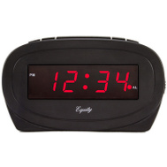 La Crosse 30228 0.6 Led Black Alarm Clock