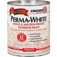 Zinsser 03134 Perma-White Semi Gloss Mold & Mildew-Proof Quart Exterior Latex Paint