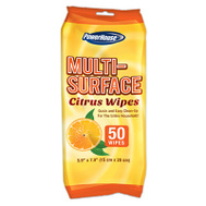 Delta Brands & Products Llc 94067-3 Power House Non-Abrasive Orange Citrus All Purpose Cleaner Wipes Pack Of 35