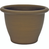 True Temper TN1206AB Southern Patio 12 Inch Antique Bronze Planter