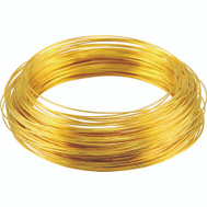 Hillman 50152 Ook Solid Brass Wire 22 Gauge 75 Foot