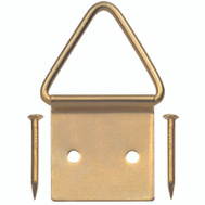 Hillman 50205 Ook Picture Frame Triangle Ring Hangers Medium Brass Plated 2 Pack