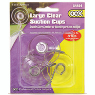 Hillman 54404 Ook Suction Cup Lg Clear Plastic 3 Pack