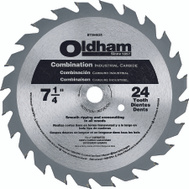 Oldham B7254524-10 7-1/4 Inch 24 Tooth Carbide Blade
