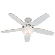 Hunter Fan 53089 Builder Deluxe Fan Ceil 52In5bld/2Lt Cand Wht