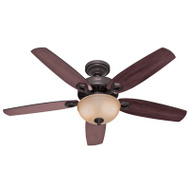 Hunter Fan 53091 Builder Deluxe Fan Ceil 52In5bld/2Lt Cand Brz