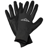 Magid Glove ROC20TLCS Black Poly Palm Gloves Large