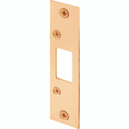 Prime Line E2432 High Security Dead Bolt Strike 4-7/8 By 1-1/8 Inch Brass Plated