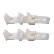 Prime Line N6564 161230 Bi-Pass Adjustable Door Bottom Guides White 2 Pack