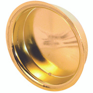 Prime Line N6698 161096 162986 Recessed Round Cup Pulls 2 Inch Bright Brass Finish 2 Pack