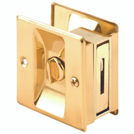 Prime Line N6771 161495 Privacy Pocket Door Latch 1-3/8 To 1-3/4 Doors Polished Brass