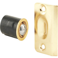 Prime Line N7331 163133 Round Drive-In Ball Catch With Strike Brass Plated