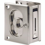 Prime Line N7367 Long Deluxe Privacy Notched Pocket Door Pull Satin Nickel