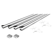 Prime Line PL7812 Make To Fit Frame Kit Aluminum 3 Foot Pcs White