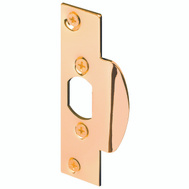 Prime Line U9422 Security Latch Strike 4-1/4 Inch High Brass Plated Steel