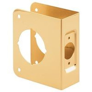 Prime Line U9543 Deadbolt Door Reinforcer 1-3/8 Inch Thick By 2-3/8 Inch Backset 2-1/8-Inch Bore Brass