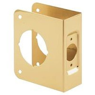 Prime Line U9544 Deadbolt Door Reinforcer 1-3/4 Inch Thick By 2-3/8 Inch Backset 2-1/8-Inch Bore Brass