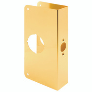 Prime Line U9549 Lock And Door Reinforcer 2-3/4 Backset 1-3/8 Thickness 4-5/16 Deep 9 Inch High Brass Finish