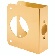Prime Line U9555 Lock And Door Reinforcer 2-3/8 Backset 1-3/8 Thickness Brass 4-1/2 Inch High