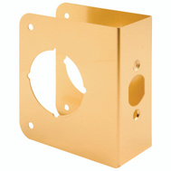 Prime Line U9556 Lock And Door Reinforcer 2-3/8 Backset 1-3/4 Thickness Brass 4-1/2 Inch High