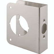 Prime Line U9590 Lock And Door Reinforcer 2-3/8 Backset 1-3/4 Thickness Stainless Steel 4-1/2 Inch High