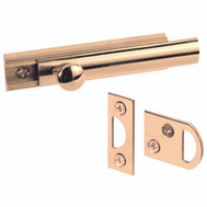 Prime Line U9962 Surface Bolt 3 Inch Solid Brass
