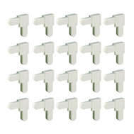 Prime Line PL14336 Corner Screen Frame Plastic White 1/4 By 5/8 Inch 20 Pack