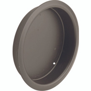 Prime Line N7211 Recessed Round Cup Pulls 2-1/8 Inch Bronze Finish 2 Pack