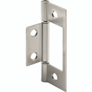 Prime Line N7273 Bi-Fold Door Hinges 3 Inch Non Mortise Satin Nickel 2 Pack