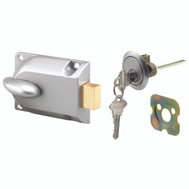 Prime Line GD52119 Garage Door Deadlock Aluminum Finish