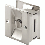 Prime Line N7239 164159 Privacy Notched Pocket Door Pull 2-1/2 Inch By 1-3/8 Inch Satin Nickel