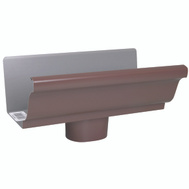 Amerimax 2501019 Brown Aluminum Gutter End Pieces 5 Inch