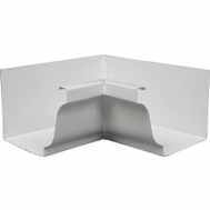 Amerimax 27201 White Aluminum Gutter In Mitres 5 Inch