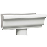 Amerimax 27080 Aluminum Gutter End With Drop Outlet, 3 By 4 Inch White