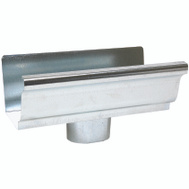 Amerimax 29010 Galvanized Gutter End With 2 By 3 Inch Drop Outlet