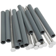 Amerimax 33044 White Galvanized 7 Inch Spikes With 5 Inch Black Plastic Ferrules 10 Pack