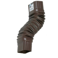 Amerimax 3708419 Brown Flex Elbow Connects Gutters 2 By 3 Inch