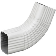 Amerimax 47265 Aluminum Side Elbow 3 By 4 Inch White