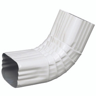 Amerimax 47264 Aluminum Front Elbow 3 By 4 Inch White